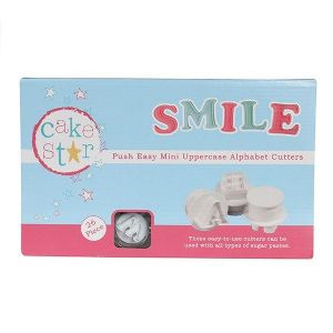 Cake Star Push Easy Mini Cutters - Uppercase - Alphabet Set 26 Piece